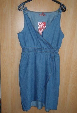 Denim-Kleid in Wickel-Optik aus Frankreich. NEU! Gr. 36-38