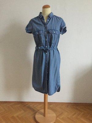 H&M Robe en jean bleu azur-bleu acier coton
