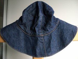 H&M Floppy Hat dark blue cotton