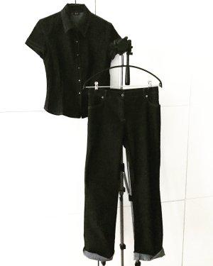 denim set / schwarz / dunkelgrau / jeans / hose / top / vintage
