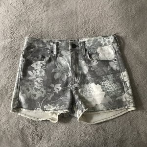 Denim Shorts floral grey