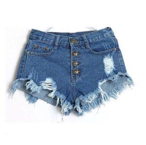Pantaloncino di jeans blu-blu scuro