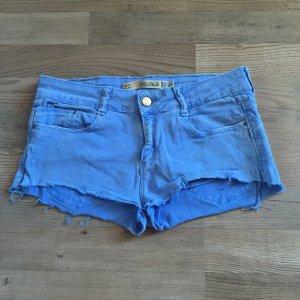 Denim shorts in blau von zara und TRF