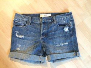 Denim Shorts von Abercrombie & Fitch im Used-Look