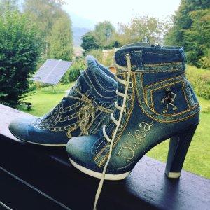 Denim Stiefel Handmade Dijea Collection