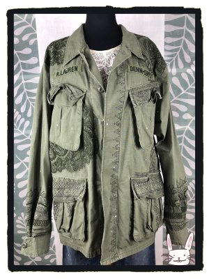 Denim & Supply Ralph Lauren Giacca militare multicolore