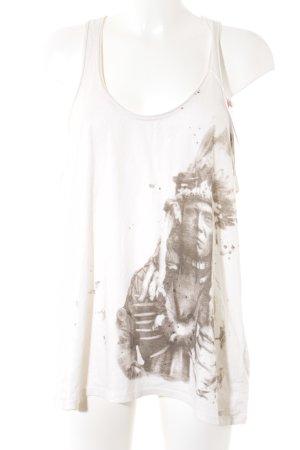 Denim & Supply Ralph Lauren Top linea A bianco sporco-marrone-grigio
