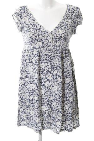 Denim & Supply Ralph Lauren Blusenkleid blau-weiß Allover-Druck Casual-Look