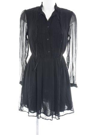 Denim & Supply Ralph Lauren Abito di chiffon nero elegante
