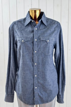 Denim & Supply Ralph Lauren Damen Hemd Bluse Jeanshemd Denim Blau-Grau Gr.S/P