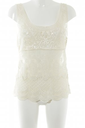 Denim & Supply Ralph Lauren Crochet Top cream hippie style