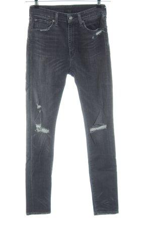 Denim & Supply Ralph Lauren High Waist Jeans schwarz Casual-Look