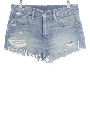 Denim & Supply Ralph Lauren High Waist Jeans blau Destroy-Optik