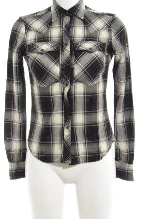 Denim & Supply Ralph Lauren Holzfällerhemd creme-schwarz Karomuster Casual-Look