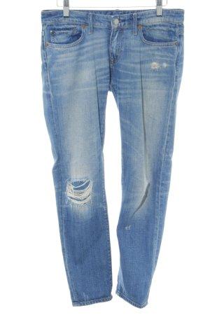 Denim & Supply Ralph Lauren Hüftjeans weiß-blau Jeans-Optik