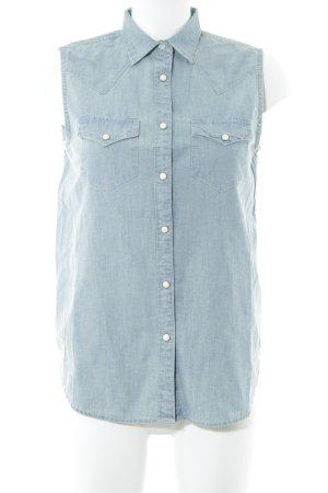 Denim & Supply Ralph Lauren Jeans blouse lichtblauw casual uitstraling