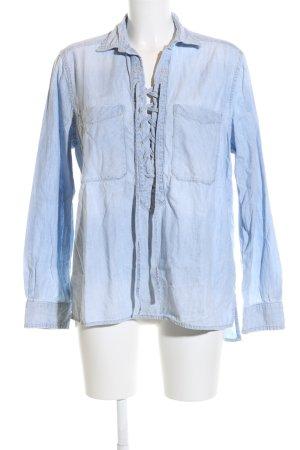 Denim & Supply Ralph Lauren Jeansbluse blau Casual-Look