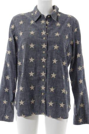 Denim & Supply Ralph Lauren Jeanshemd creme-blassblau Sternenmuster Casual-Look