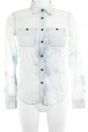 Denim & Supply Ralph Lauren Jeanshemd wollweiß-graublau Bleached-Optik