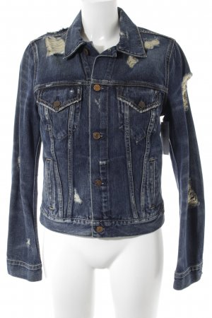 Denim & Supply Ralph Lauren Jeansjacke blau-creme Destroy-Optik