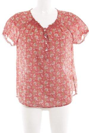 Denim & Supply Ralph Lauren Kurzarm-Bluse Blumenmuster Elegant