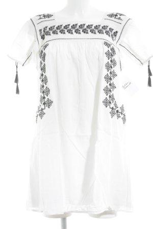 Denim & Supply Ralph Lauren Kurzarmkleid schwarz-wollweiß abstraktes Muster