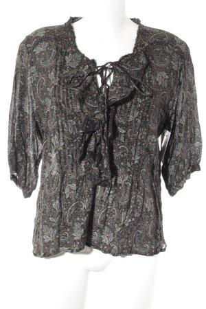 Denim & Supply Ralph Lauren Langarm-Bluse abstraktes Muster Casual-Look