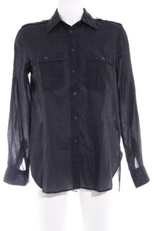 Denim & Supply Ralph Lauren Langarm-Bluse schwarz Casual-Look