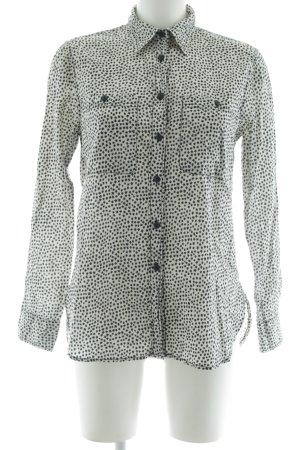 Denim & Supply Ralph Lauren Langarm-Bluse weiß-schwarz Sternenmuster