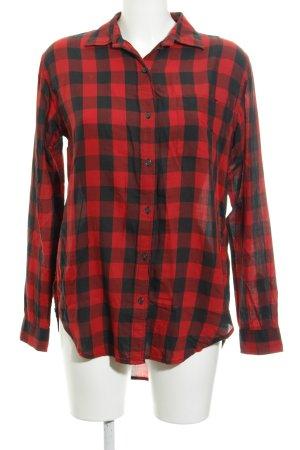 Denim & Supply Ralph Lauren Langarmhemd dunkelrot-schwarz Karomuster