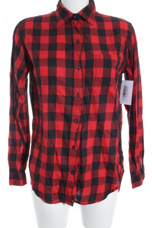 Denim & Supply Ralph Lauren Camisa de manga larga negro-rojo estampado a cuadros