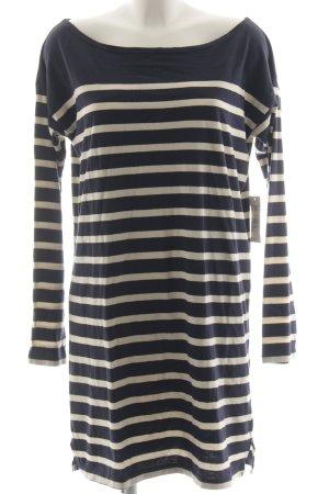 Denim & Supply Ralph Lauren Langarmkleid weiß-dunkelblau Streifenmuster