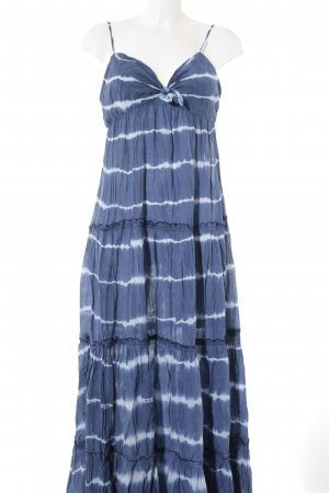 Denim & Supply Ralph Lauren Maxikleid blau-weiß Batikmuster Beach-Look