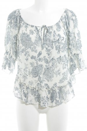 Denim & Supply Ralph Lauren Shirttunika wollweiß-blau florales Muster