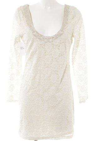 Denim & Supply Ralph Lauren Spitzenkleid hellbeige-wollweiß Blumenmuster