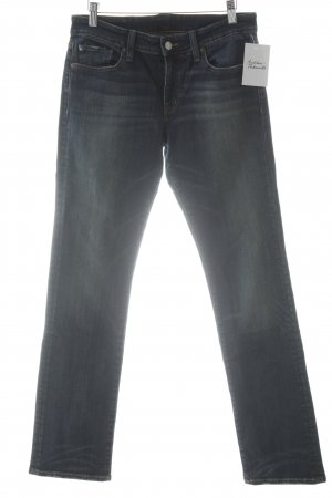 Denim & Supply Ralph Lauren Straight-Leg Jeans dunkelblau-wollweiß Casual-Look