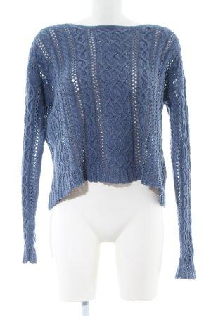 Denim & Supply Ralph Lauren Strickpullover blau Zopfmuster Casual-Look