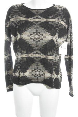 Denim & Supply Ralph Lauren Strickpullover schwarz-beige abstraktes Muster