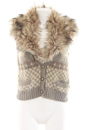 Denim & Supply Ralph Lauren Strickweste braun-wollweiß Mustermix Casual-Look