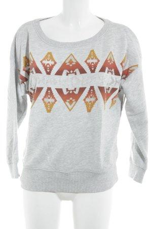 Denim & Supply Ralph Lauren Sweatshirt abstrakter Druck Boyfriend-Look