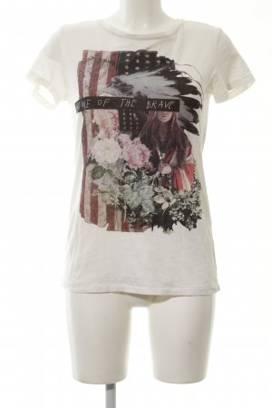 Denim & Supply Ralph Lauren T-Shirt wollweiß Blumenmuster Casual-Look