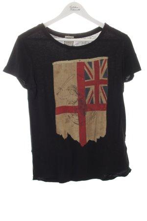 Denim & Supply Ralph Lauren T-Shirt abstrakter Druck sportlicher Stil