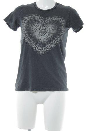 Denim & Supply Ralph Lauren T-Shirt dunkelgrau-hellgrau Motivdruck Casual-Look