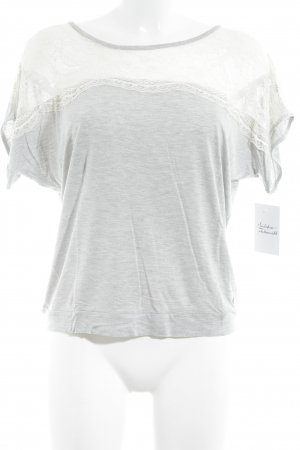 Denim & Supply Ralph Lauren T-Shirt hellgrau-creme Romantik-Look