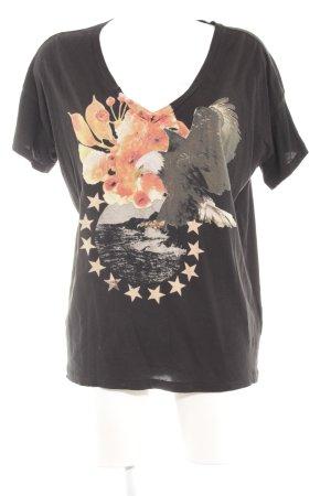 Denim & Supply Ralph Lauren T-Shirt schwarz Animalmuster Casual-Look