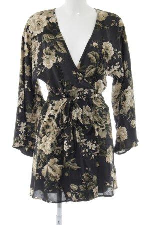 Denim & Supply Ralph Lauren Tuniekjurk zwart-wolwit bloemenprint
