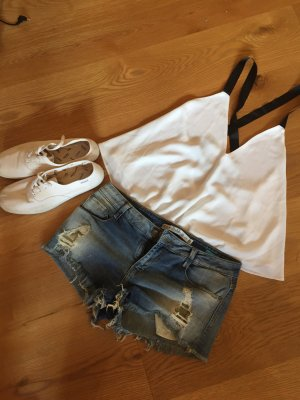 Denim Used Look Hotpants (nur die Hose)