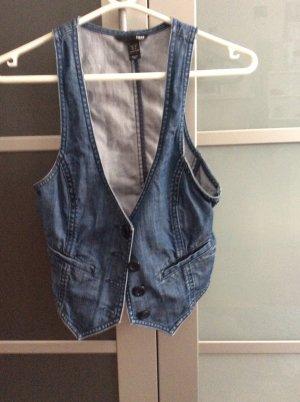 H&M Denim Vest steel blue cotton