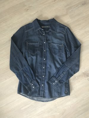 Camicia denim blu-blu scuro