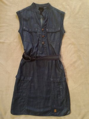 G-Star Raw Denim Dress blue-dark blue lyocell